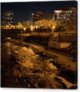 Confluence Park Rapids At Night Canvas Print