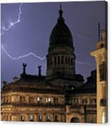 Congreso Lightning Canvas Print