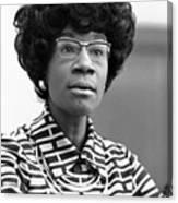 Congresswoman Shirley Chisholm Canvas Print