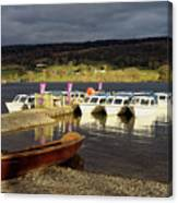 Coniston Water Boats Canvas Print