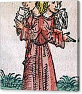 Conjoined Twins, Nuremberg Chronicle Canvas Print