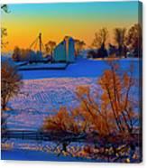 Conley Road Farm Winter  Canvas Print