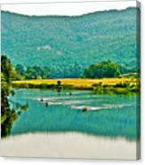 Connecticut River Between New Hampshire And Vermont Canvas Print