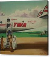 Connie Crew Deplaning At Columbus Canvas Print