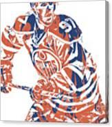 Connor Mcdavid Edmonton Oilers Pixel Art 3 Canvas Print