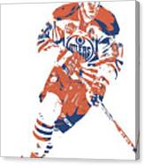 Connor Mcdavid Edmonton Oilers Pixel Art 6 Canvas Print