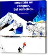 Conquer Canvas Print
