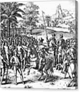 Conquest Of Inca Empire Canvas Print
