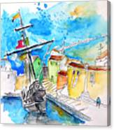 Conquistador Boat In Portugal Canvas Print