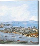 Constantinople Ships Canvas Print