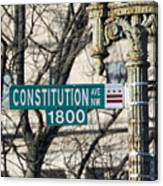 Constitution Avenue Street Sign Canvas Print