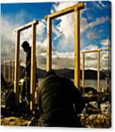 Construction In Ladakh Canvas Print