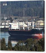 Container Ship Ready To Load More Lumber Canvas Print