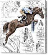 Contemplating Flight - Horse Jumper Print Color Tinted Canvas Print