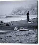 Contemplation - Beach - California Canvas Print