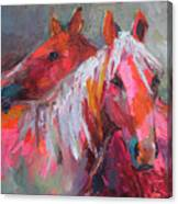 Contemporary Horses Painting Canvas Print
