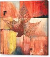 Contemporary Leaf 2 Canvas Print