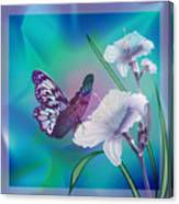 Contemporary Painting Of A Dancing Butterfly  Canvas Print