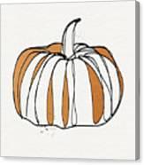 Contemporary Pumpkin- Art By Linda Woods Canvas Print