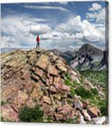 Continental Divide Above Twin Lakes - Weminuche Wilderness Canvas Print