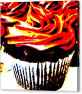 Contrasted Cupcake Canvas Print