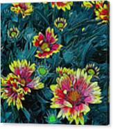 Contrasting Colors Digital Art Canvas Print
