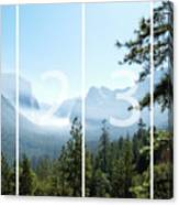 Controlled Burn Of Yosemite Panoramic Map Canvas Print