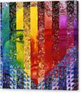 Conundrum I - Rainbow Woman Canvas Print