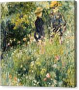 Conversation In A Rose Garden Canvas Print