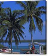 Convertible On Pigeon Key In Florida Canvas Print
