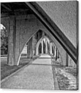 Conway River Walk Black And White Canvas Print
