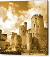 Conwy Castle And The Telford Suspension Bridge North Wales Canvas Print