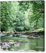 Conwy River Near Betws Y Coed.  Canvas Print
