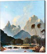 Cook: Tahiti, 1773 Canvas Print