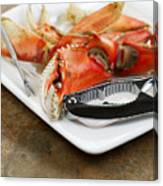 Cooked Crab Ready To Eat  Canvas Print