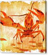 Cooked Lobster On Parchment Paper Canvas Print