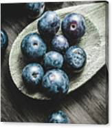 Cooking With Blueberries Canvas Print