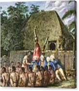 Cook:sandwich Islands 1779 Canvas Print