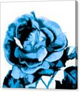 Cool Blue Rose Canvas Print