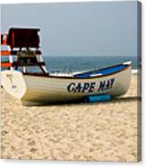 Cool Cape May Beach Canvas Print