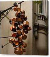 Cool Copper Pots - Parisian Restaurant Left Bank La Rive Gauche Canvas Print