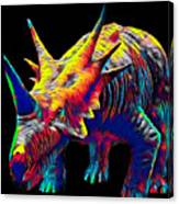 Cool Dinosaur Color Designed Creature Canvas Print