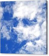 Cool Face In The Blue Sky Canvas Print