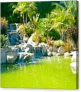 Cool Green Waterfall Canvas Print