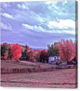 Cool Sunset Autumn Farm Canvas Print