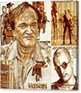 Cool Tarantino Poster Canvas Print