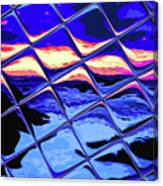 Cool Tile Reflection Canvas Print
