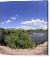 Coons Bluff Salt River Arizona Canvas Print