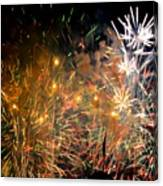 Coors Field Fireworks 3 Canvas Print