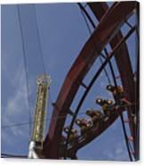 Copenhagen, Denmark, Rollercoaster Ride Canvas Print